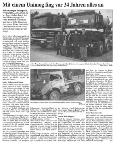 thumbnail of 20020221 Mit einem Unimog fing vor 34 Jahren alles an